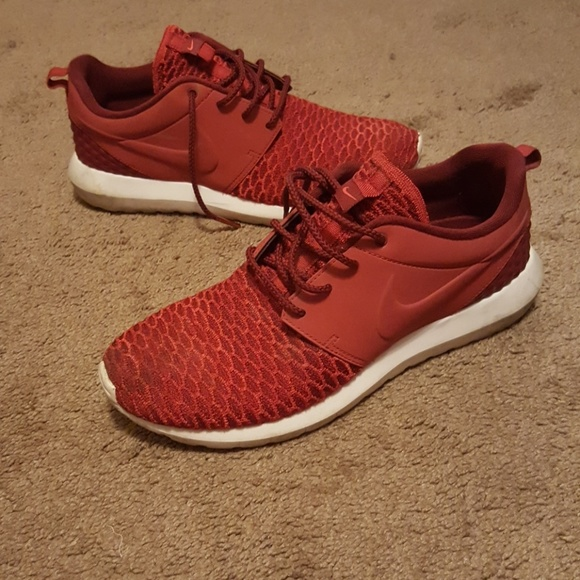 Nike Other - Nike Roshe Run two Woven size 9 RED Running shoes
